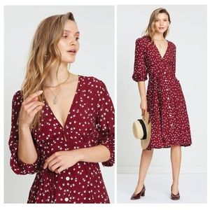 NWOT✨Faithfull Betina Floral Berry Chloe Dress XS